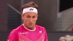 Match Highlights | Matteo Berrettini 2 vs 0 Casper Ruud | Mutua Madrid Open 2021