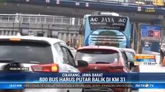 Pelarangan Mudik, 800 Kendaraan di Titik Penyekatan Cikarang Barat Putar Balik