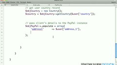 E-commerce website with PHP, MySQL, jQuery and PayPal #117 - Client details to the class instance
