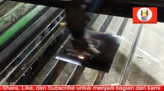 laser engraving - membuat tulisan diatas logam pakai laser