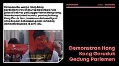 Demo Hong Kong, Pendemo Geruduk Gedung Parlemen