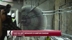 Fase dua MRT berakhir di Kampung Bandan