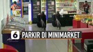 Viral Pesepeda Parkir di Dalam Minimarket