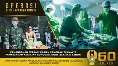 Operasi Pasien di Rumah Sakit Lapangan Mamuju, Sulawesi Barat