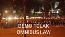 Detik-detik Demo Tolak Omnibus Law di Depan Gedung DPRD Jabar Dibubarkan Aparat