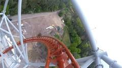 Sky Scream Roller Coaster Ride Holiday Park Germany Achterbahn - vidio