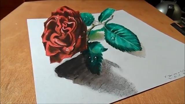Contoh Gambar 3 Dimensi Gambar 3 Dimensi Bunga Yang Mudah