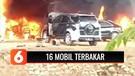 16 Mobil Terbakar Akibat Tersambar Puntung Rokok