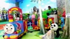 """Naik Kereta Api - Lagu Anak, """"Ara"""" naik kereta api odong-odong - Indoor playground fun for kids and family"""