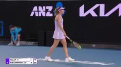Match Highlights | Ekaterina Alexandrova 2 vs 0  Simona Halep | WTA Melbourne Open 2021