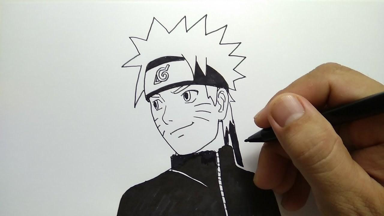 Cara Menggambar Naruto Remaja Dengan Gampang
