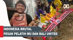 Pelatih PS Tira dan Bali United Tebar Pesan Perdamaian