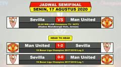 Jadwal Semifinal Liga Eropa Malam Ini Live SCTV - Sevilla VS Manchester United