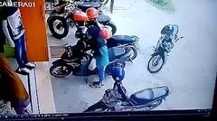 CCTV→kekalukan wanita ini bikin gemes netizen