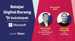 Berkembang Bersama: Belajar Digital Bareng Microsoft x Bukalapak - 08 Maret 2021