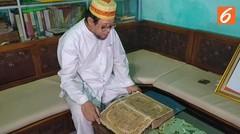 Melestarikan Alquran Tinta Emas Peninggalan Kesultanan Palembang Darussalam
