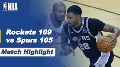 Match Highlight | Houston Rockets 109 vs 105 San Antonio Spurs | NBA Regular Season 2020/21