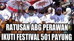 Ratusan Gadis Perawan Iringi Festival 501 Payung Jlamprang Pekalongan