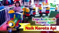 KERETA APIKU - Naik kereta api tut tut tut - Lagu Anak - Lizza dan Adan naik odong-odong kereta api