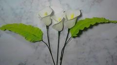 Cara Mudah Membuat Bunga Lily - Calla Lily Paper Crafts Easy And Simple DIY