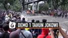 Demo 1 Tahun Jokowi-Ma'ruf, Massa Pengunjuk Akhirnya Bubar