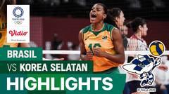 Highlights | Bola Voli Putri | Semifinal - Brasil 3 vs 0 Korea Selatan | Olimpiade Tokyo 2020