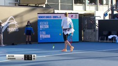 Match Highlight | Elena Rybakina 2 vs 1 Heather Watson | WTA Hobart International 2020
