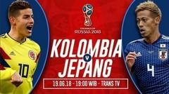 Goll Full Time Jepang VS Kolombia 2 - 1 Di Piala Dunia 2018