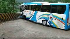 Detik Detik Kecelakan Bus Medan Blong Rem di Sitinjau Lauik buat macet