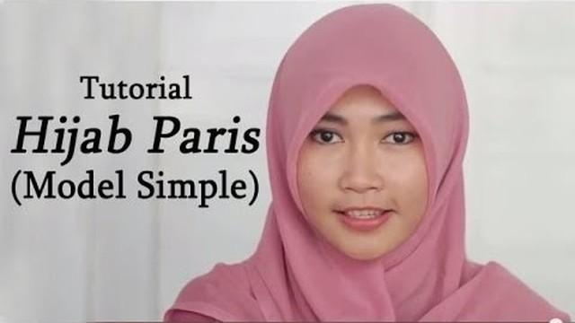 Streaming Tutorial Hijab Paris Segi Empat Simple Vidio
