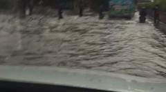 banjir sore ini didepan Mabes
