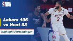 Match Highlight | Los Angeles Lakers 106 vs 93 Miami Heat | NBA Playoff Season 2019/20