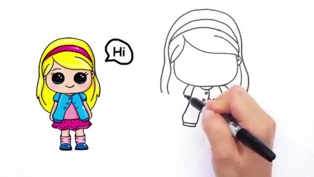 Cara Mudah Menggambar Karakter ANAK PEREMPUAN CANTIK DAN ...
