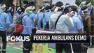 Ratusan Pekerja Ambulans Demo Adukan 10 Tuntutan di Depan Balai Kota DKI Jakarta   Fokus