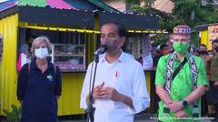 Keterangan Pers Presiden Jokowi usai Berikan Bantuan Modal PKL, Tarakan, 19 Oktober 2021