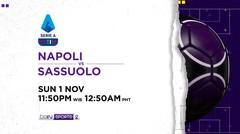 Napoli vs Sassuolo - Minggu, 1 November 2020 | Serie A 2020