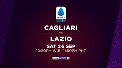 Cagliari vs Lazio - Sabtu, 26 September 2020 | Serie A 2020