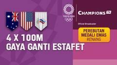 Full Match   Perebutan Medali Emas Renang 4 x 100m Gaya Ganti Estafet Putra   Olimpiade Tokyo 2020