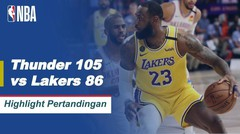 Match Highlight | Oklahoma City Thunder 105 vs 86 Los Angeles Lakers | NBA Regular Season 2019/20