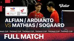 Full Match   Denmark vs Indonesia   Mathias Christiansen/ Frederik Sogaard vs Fajar Alfian/Muhammad Rian Ardianto   Thomas & Uber Cup 2020