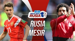Goll Full Time Rusia VS Mesir 3 - 1 Di Piala Dunia 2018