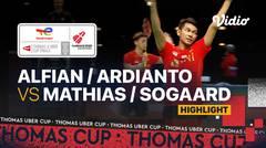 Highlight Match 4   Denmark vs Indonesia   Mathias Christiansen/ Frederik Sogaard vs Fajar Alfian/Muhammad Rian Ardianto   Thomas & Uber Cup 2020