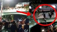 Terekam Kamera Detik-Detik Tragedi Kereta Api Surabaya Menjatuhkan Belasan Orang dari Jembatan
