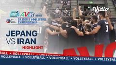 Highlights | Jepang VS China Taipei | Final Asian Senior Men's Volleyball Championship 2021