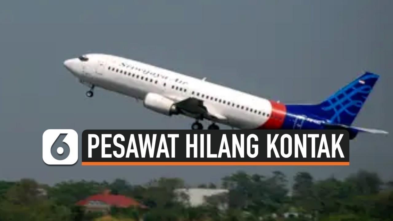 Streaming Pesawat Sriwijaya Air SJ182 Rute Jakarta ...