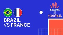 Full Match   Semi Final   VNL MEN'S - Brazil vs France   Volleyball Nations League 2021