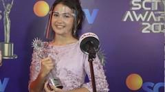 Sandrinna Michelle Memenangkan Kategori Pendatang Baru Paling Ngetop - Exclusive Keseruan NonStop SCTV Awards 2020