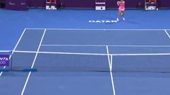 Match Highlights   Karolina Pliskova 2 vs 1 Ons Jabeur   WTA Qatar Total Open 2021