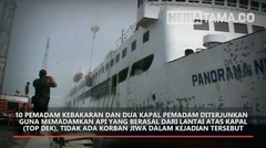 Kapal Panorama Nusantara Terbakar di Tanjung Emas