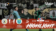 Full Highlight - PSS Sleman 1 vs 1 Persela Lamongan | Shopee Liga 1 2019/2020